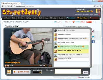 StreetJelly is Online Busking